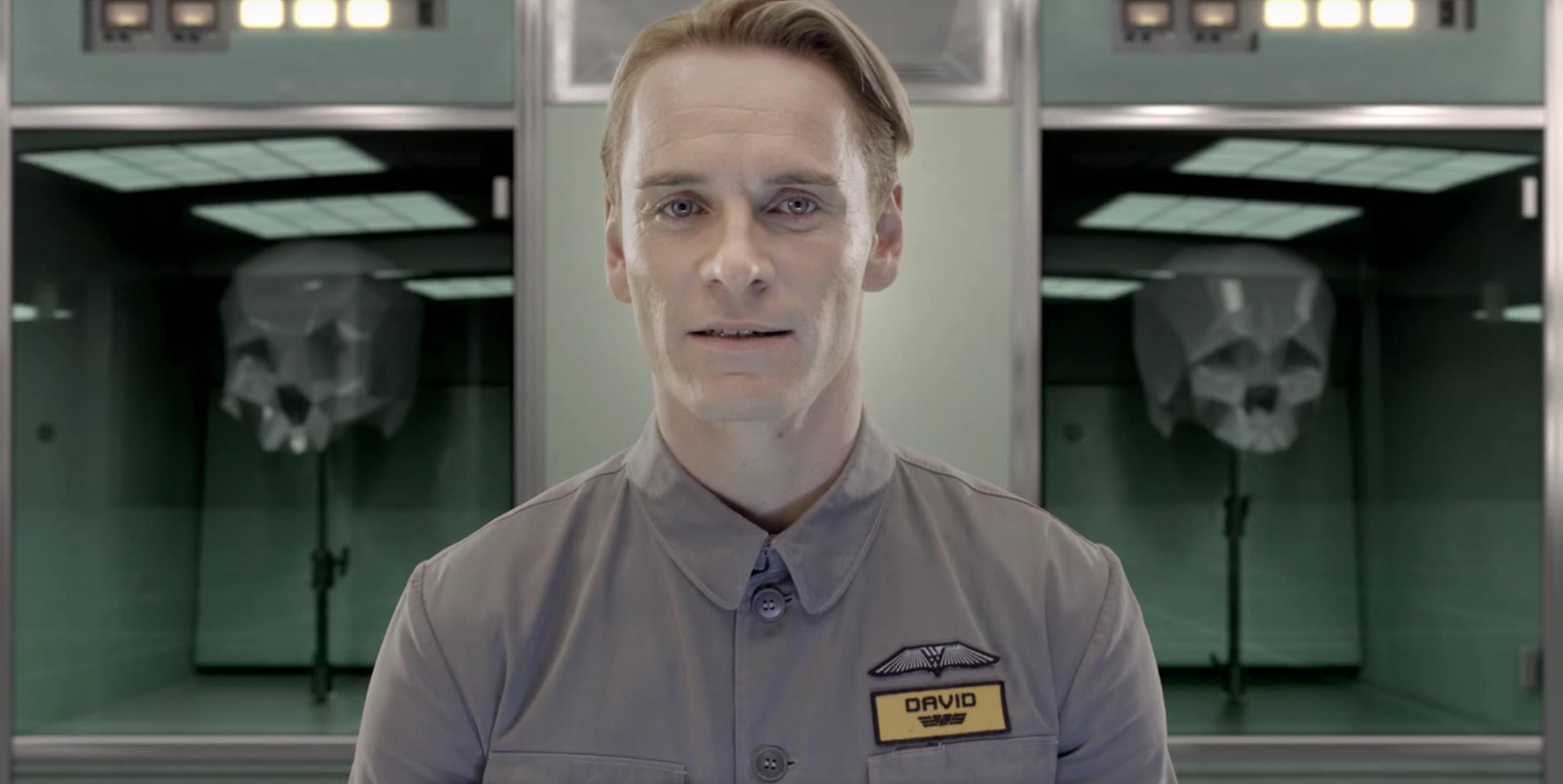 Fassbender as David 8 in 'Prometheus'.
