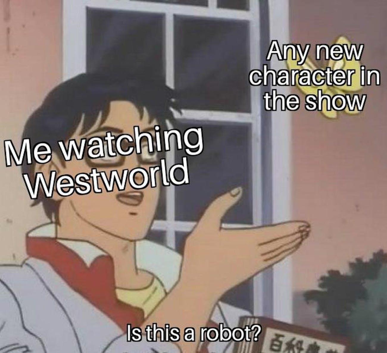 westworld pigeon meme