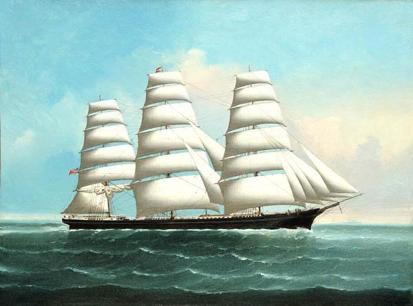 A seafaring clipper ship.