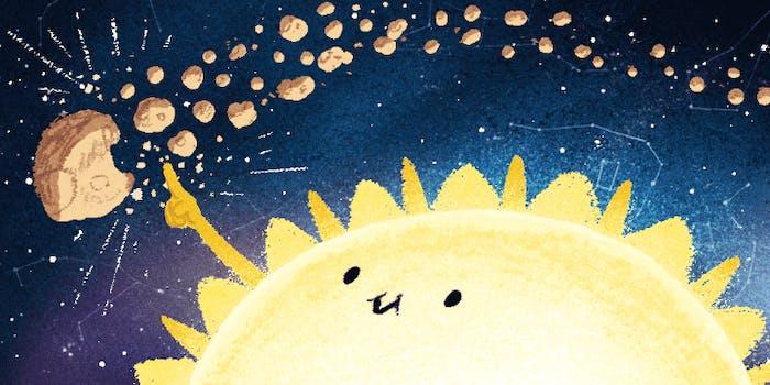 Geminid Meteor Shower Google doodle