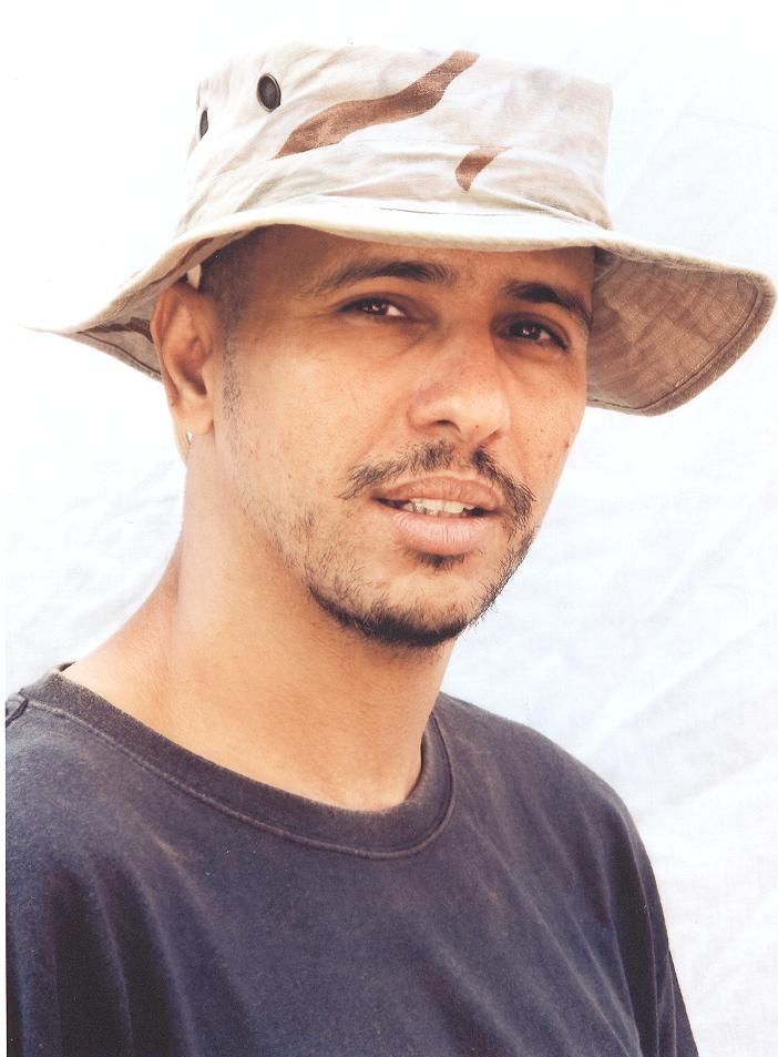 The International Committee of the Red Cross took this photo of Mohamedou Slahi at Guantanamo Bay for his lawyer.