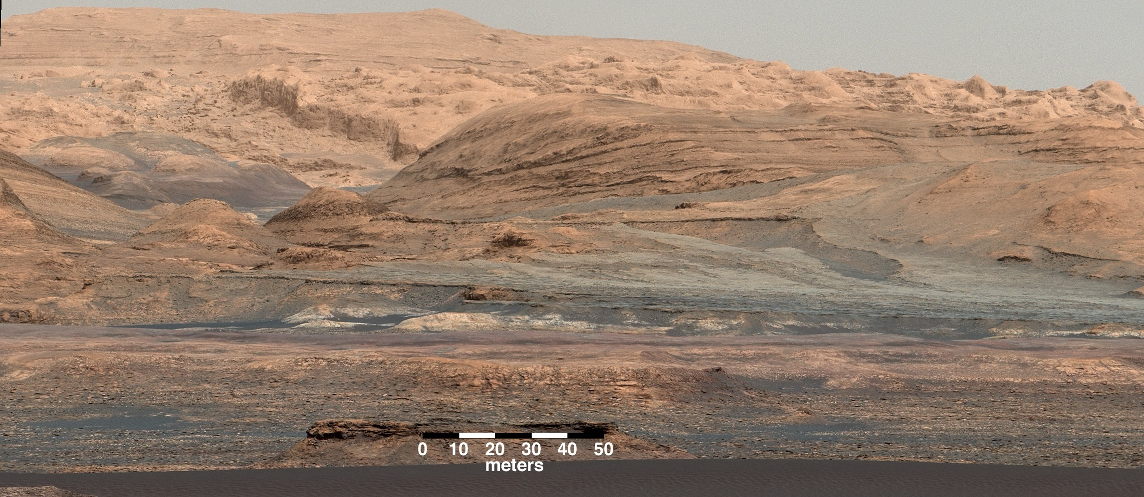 Mars looks a little like Arizona here in this shot captured by the Mars Exploration Rover.
