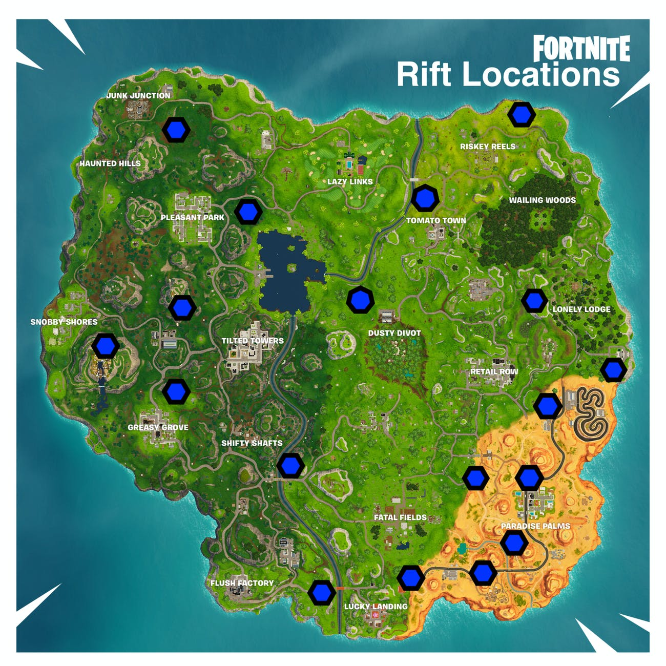 'Fortnite' Rift Portal Locations