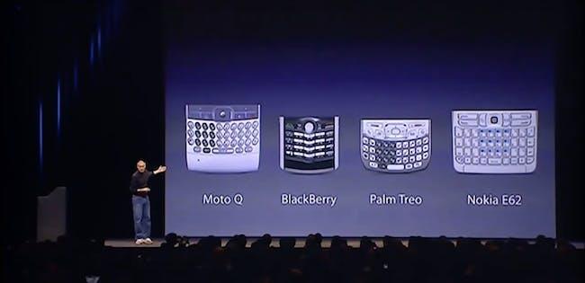 Steve Jobs, unimpressed.