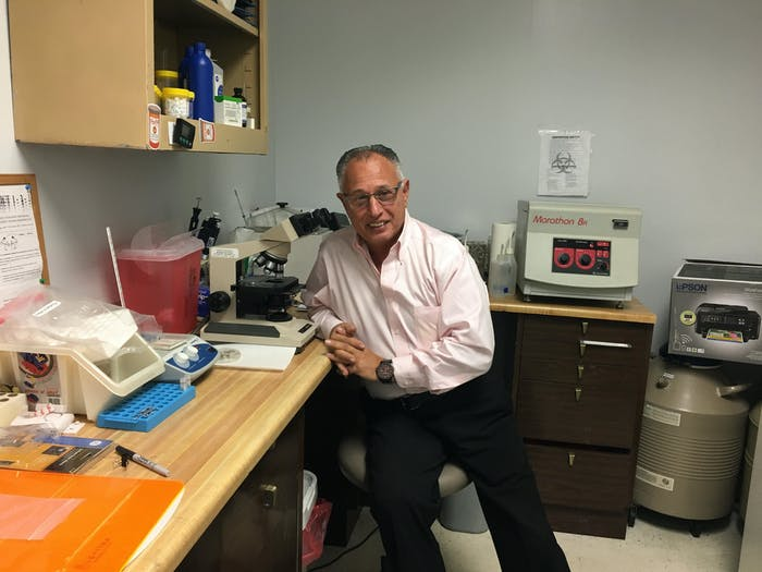 President and CEO Albert Anouna in his New York lab.