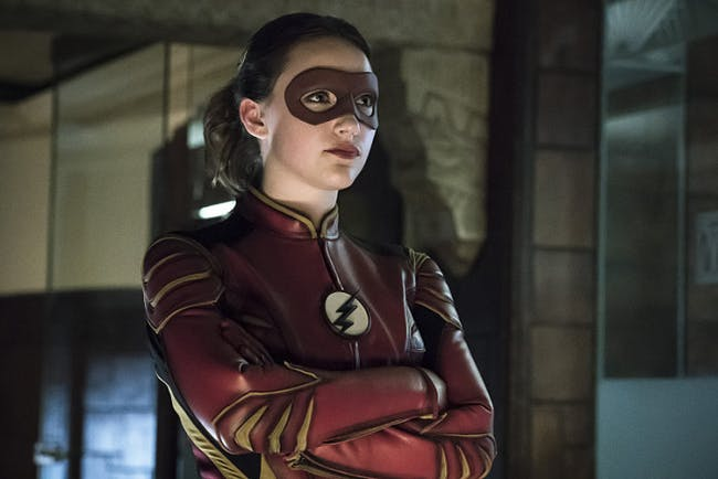 """Jesse Quick has been protecting Earth-3 since Jay Garrick got stuck in the Speed Force in """"Into the Speed Force."""""""