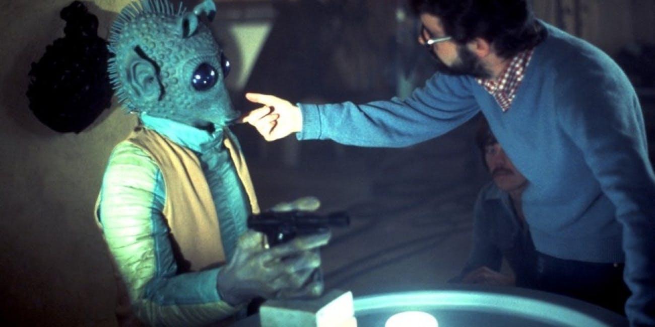 Greedo shooting George Lucas