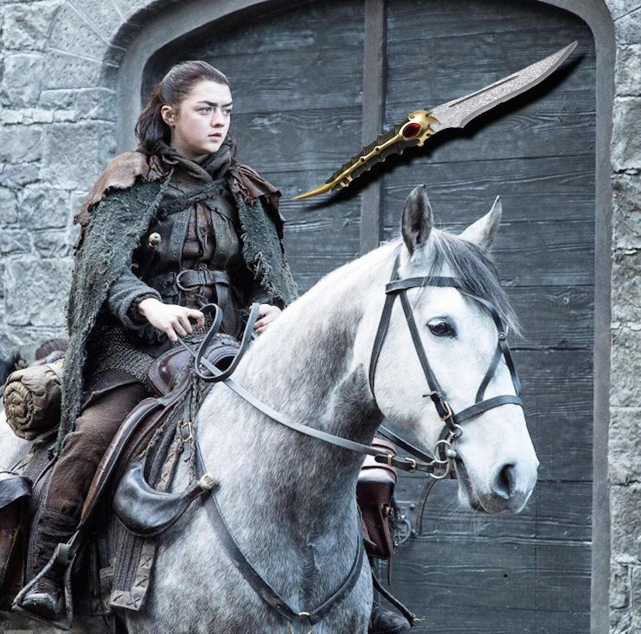 Looks like Arya will acquire this ancient dagger.
