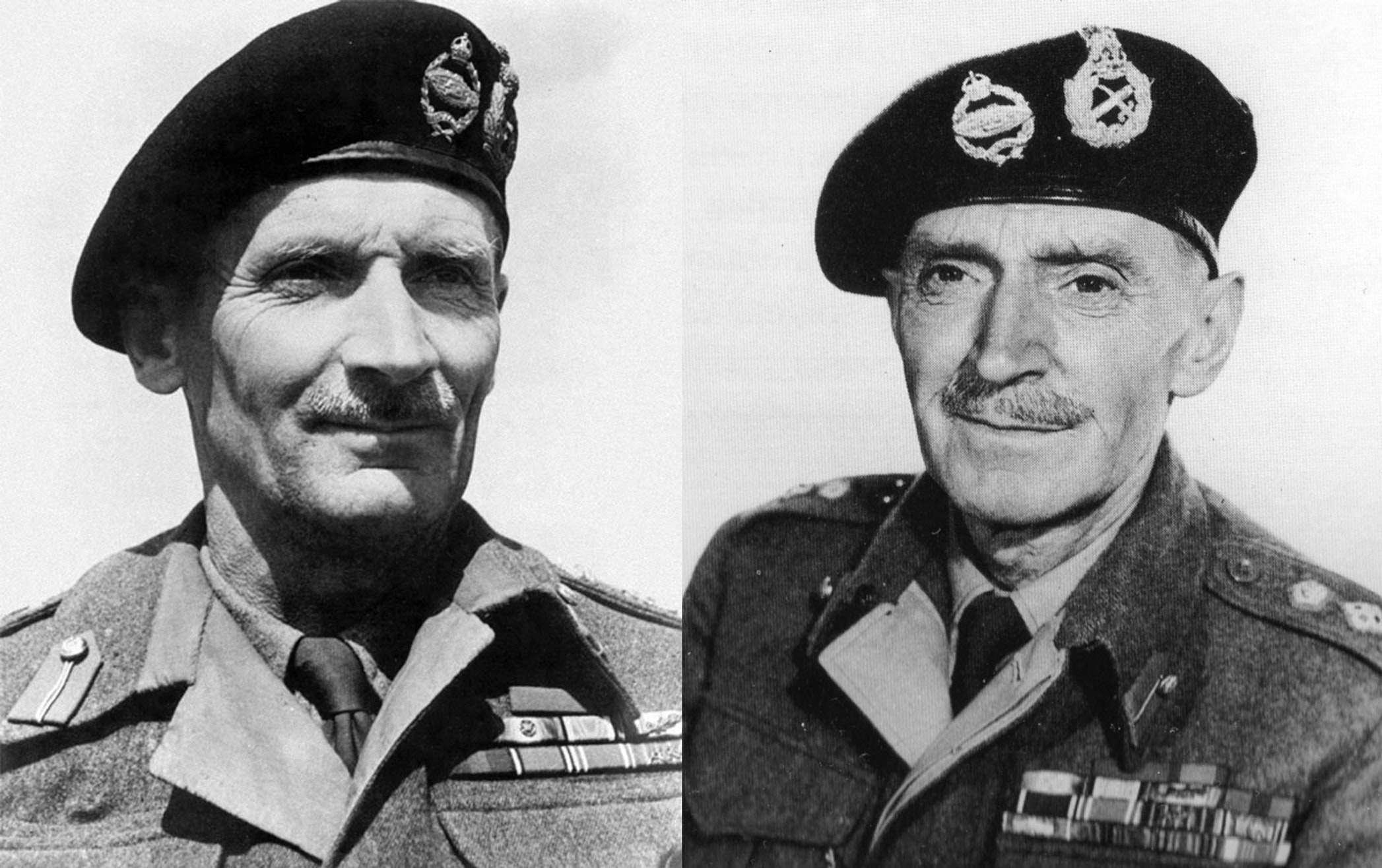 General Bernard Montgomery and his double, M. E. Clifton James.