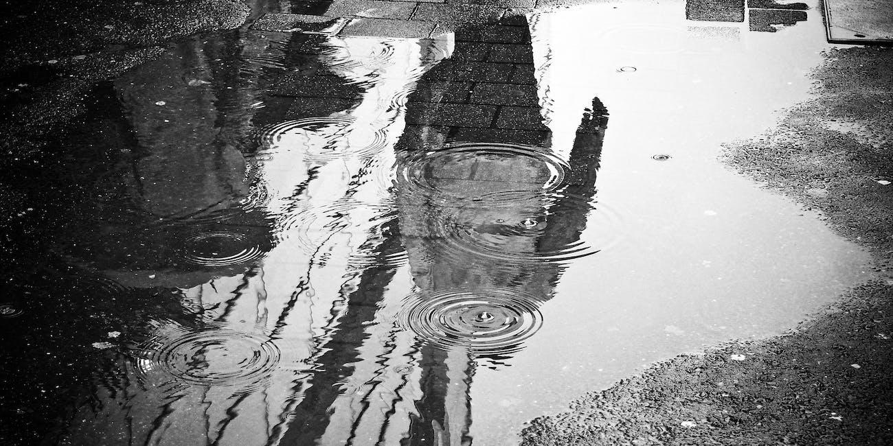 raindrops puddles