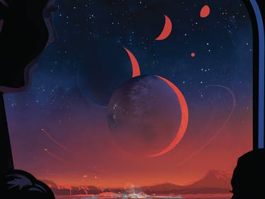 Imagine a trip to an exoplanet with these NASA travel posters.