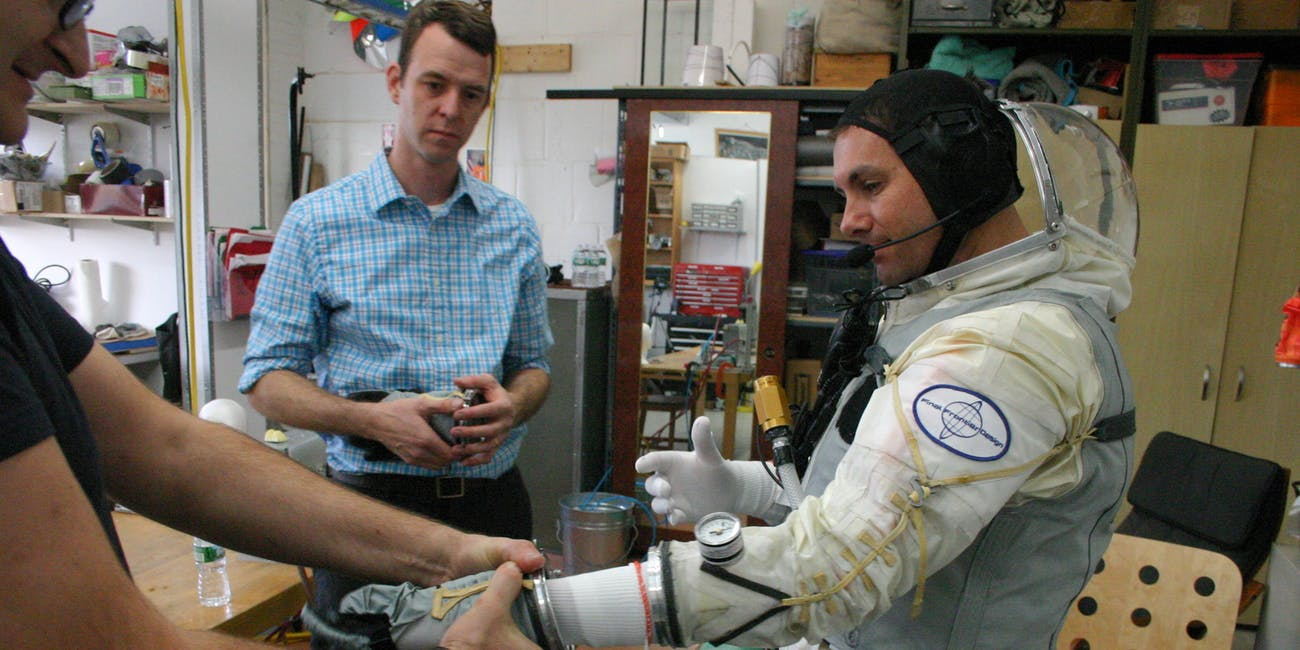 Final Frontier Design's spacesuit lab