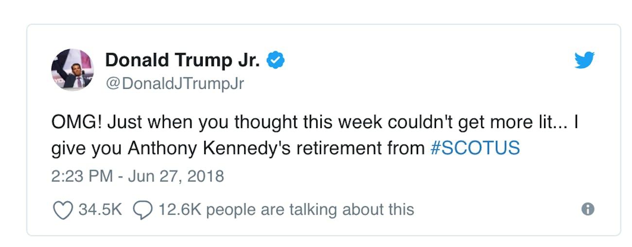 trump jr it's lit
