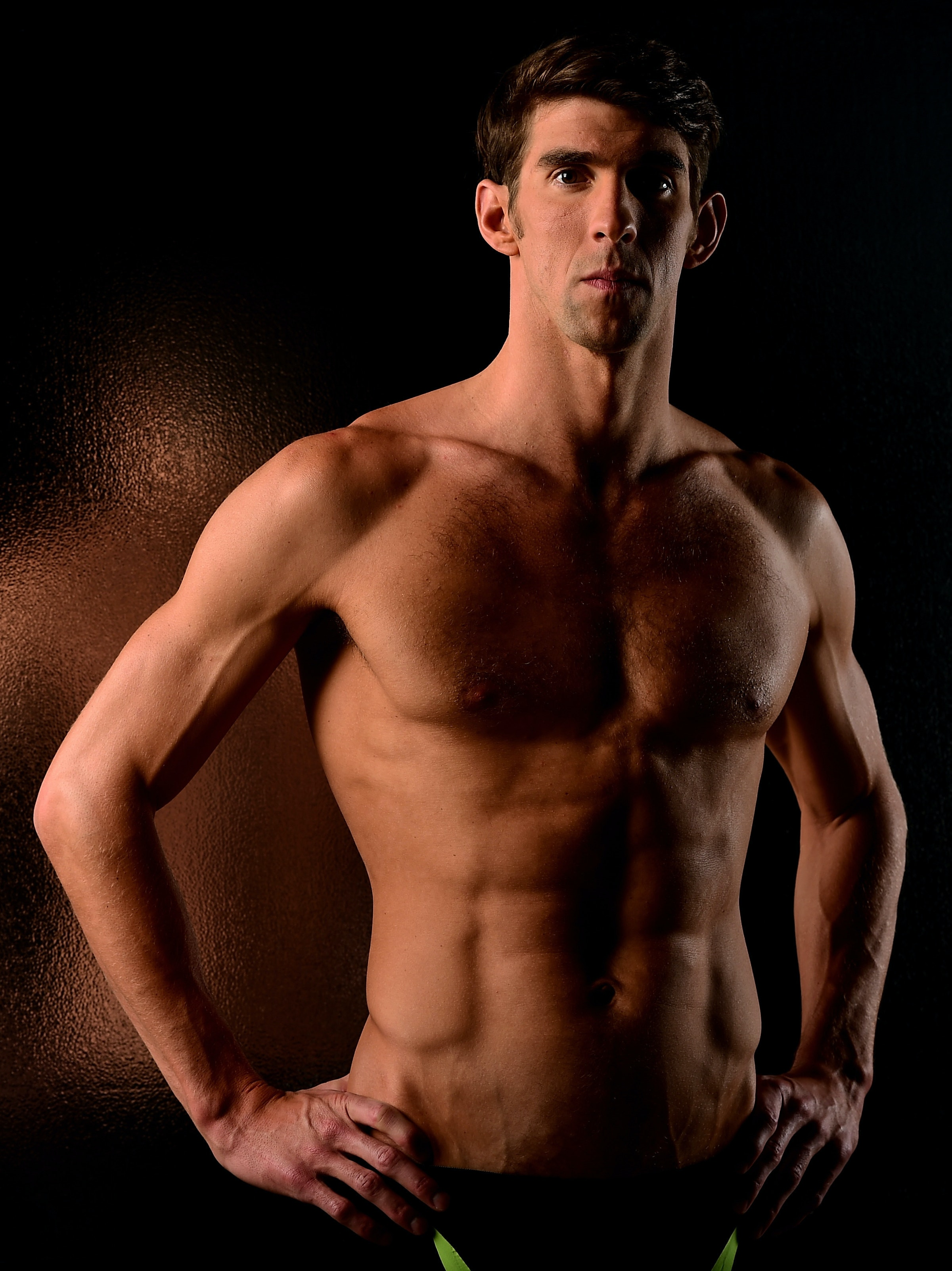Swimmer Michael Phelps poses for a portrait at the USOC Rio Olympics Shoot at Quixote Studios on November 21, 2015 in Los Angeles, California.