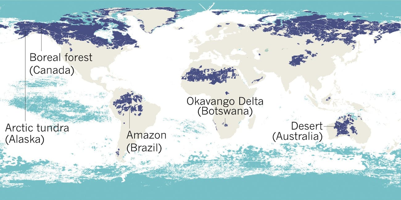 World\'s Remaining Wilderness Is Revealed in 5 Detailed Maps | Inverse
