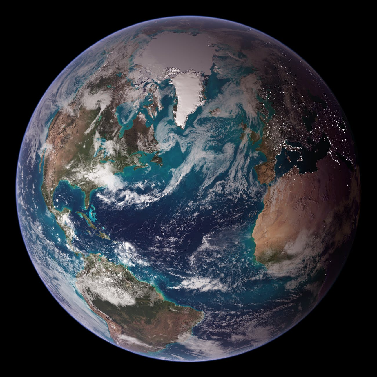NASA Blue Marble 2007 West
