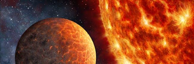 Artist's rendering of a Venus-like planet.