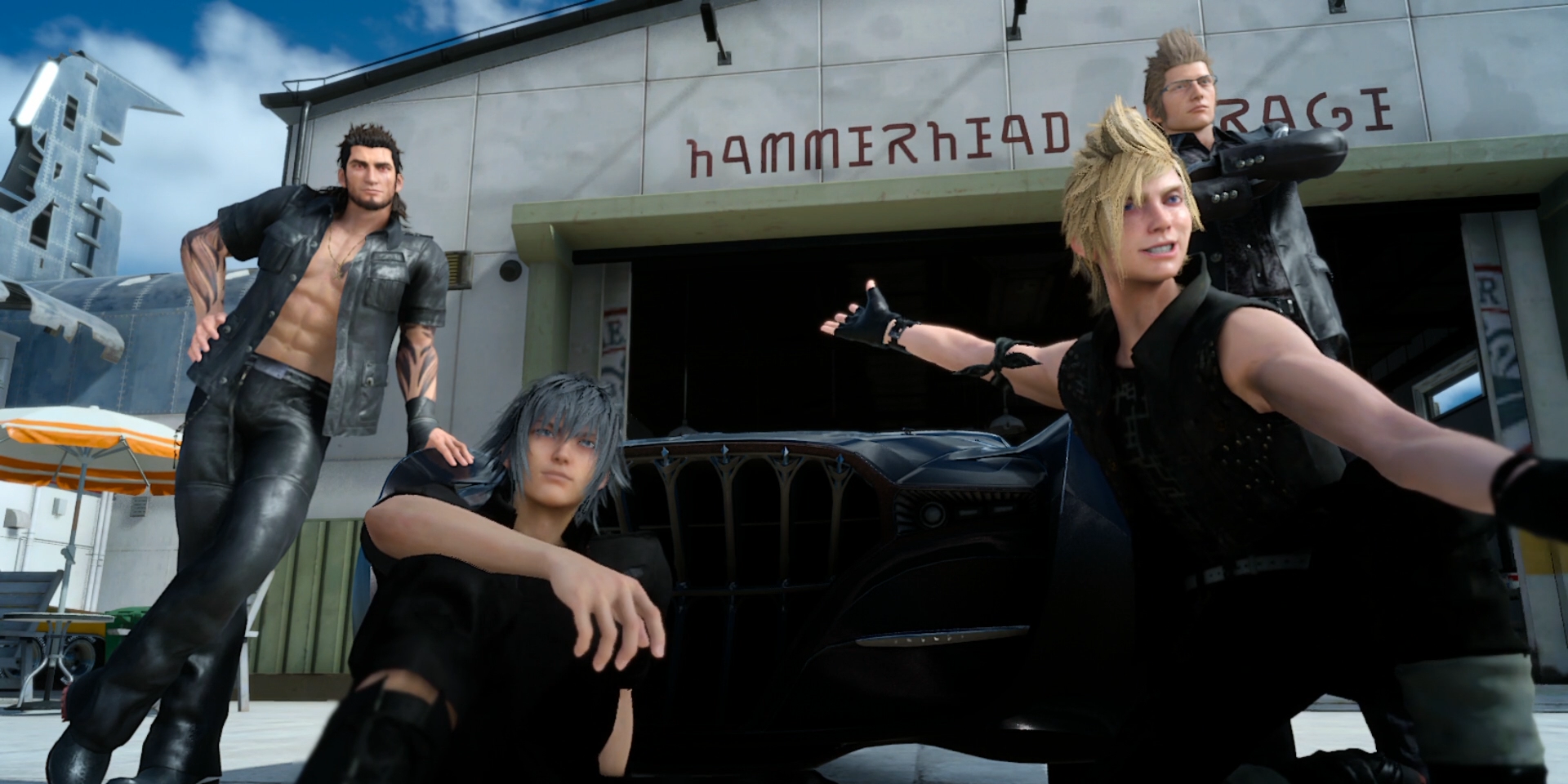 Look at Prompto. So happy.