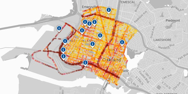 Air quality black carbon map Oakland environment