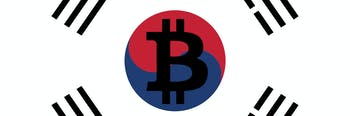 Korean cryptocurrency market clipart.