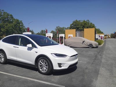 Mysterious Tesla Model 3 Photos Spark Advanced Charging Rumors