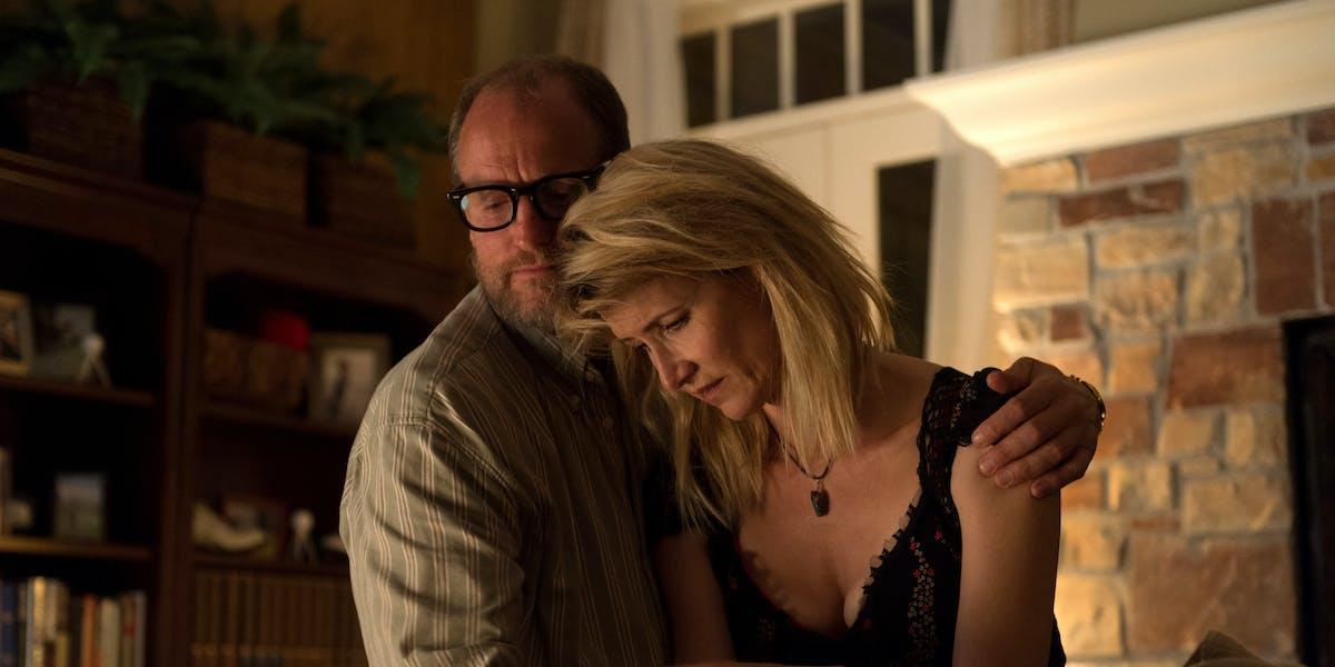 Woody Harrelson and Laura Dern in 'Wilson'