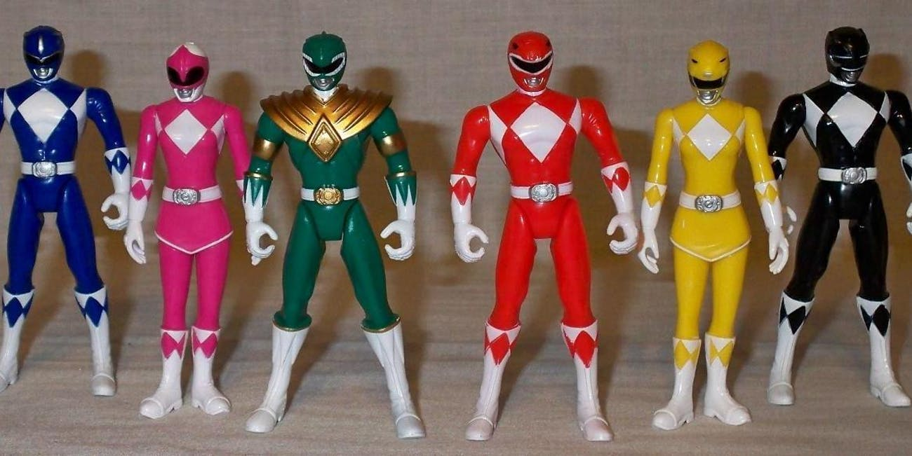 the faceless iconography of the power rangers is still making