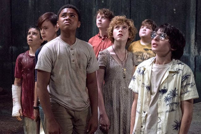Mike and Bev are front and center in this image from 'It'.