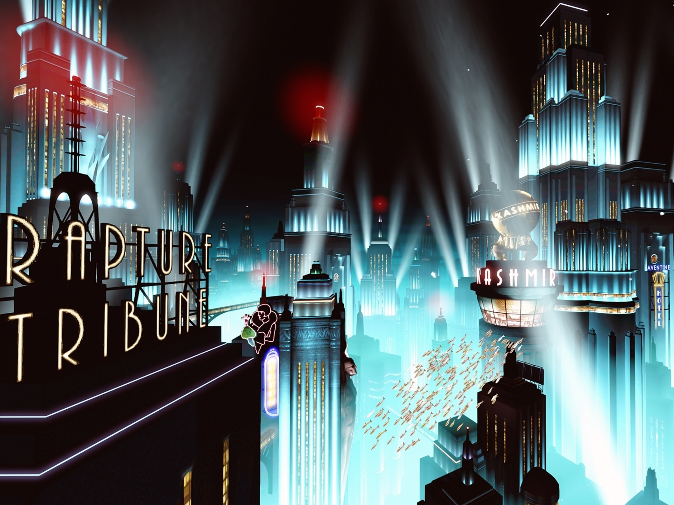 """Rapture in BioShock Infinite DLC """"Burial at Sea"""""""