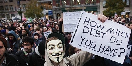 The Occupy movement began in Wall Street in November 2011 when protesters attempted to shut down the New York stock exchange.