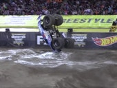 A Front-Flipping a Monster Truck, Explained by Physics