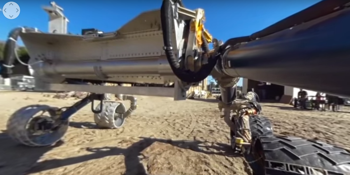 Watch NASA's Prototype Mars Rover Cruise Along in 360 ...