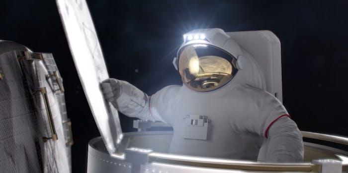 nasa astronaut moon exploration video space