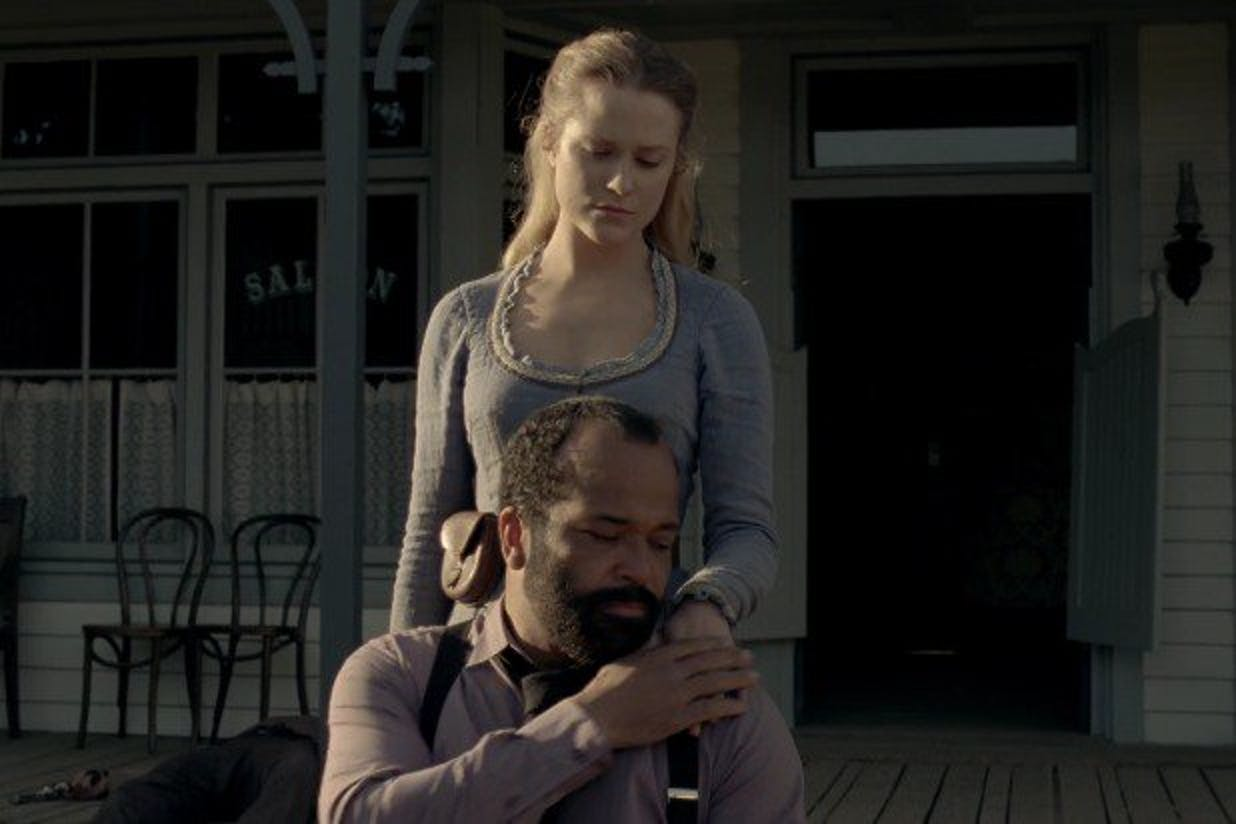 Dolores/Wyatt right before she killed Arnold in 'Westworld'.