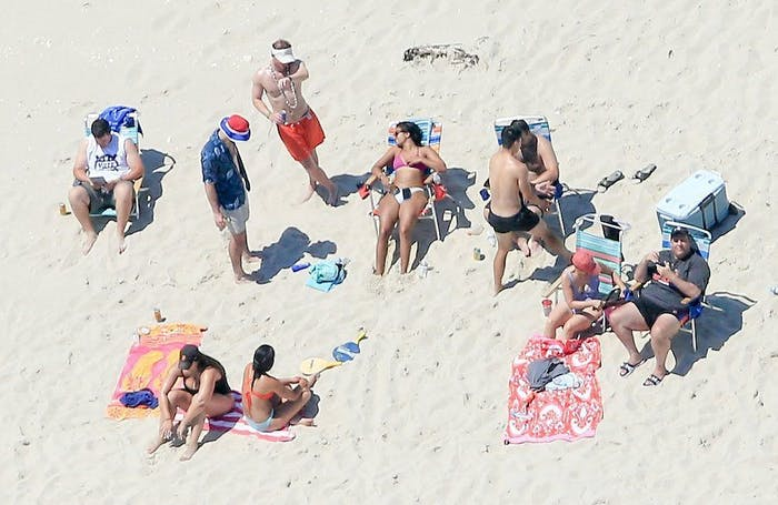 chris christie beach photos