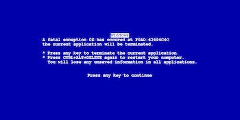 XScreenSaver simulating Windows 9x BSOD