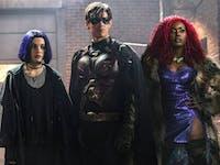 All four major Titans team up in 'Titans'.