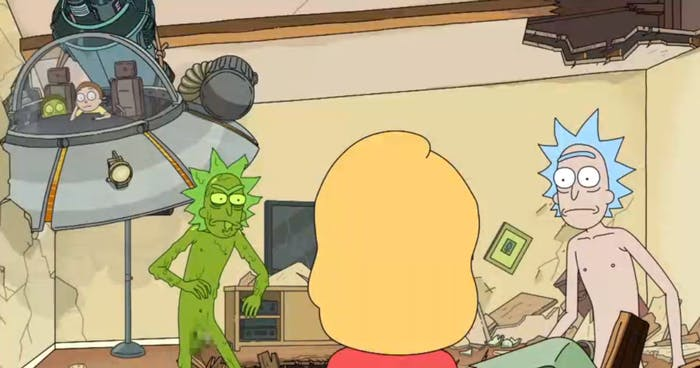 Toxic versions of Rick and Morty bring a whole new dynamic.