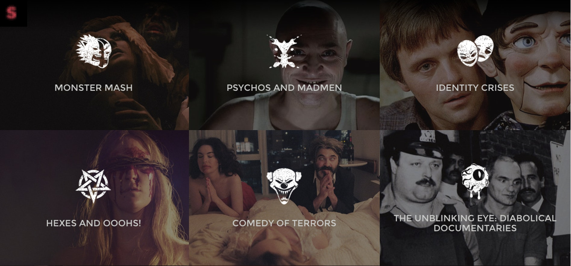 """A selection of Shudder's """"Collections,"""" groups of horror films linked by perfectly punny themes."""