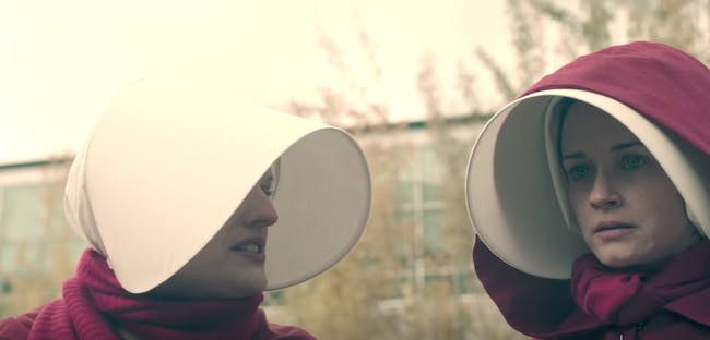 Elizabeth Moss and Alexis Bledel in 'The Handmaid's Tale'