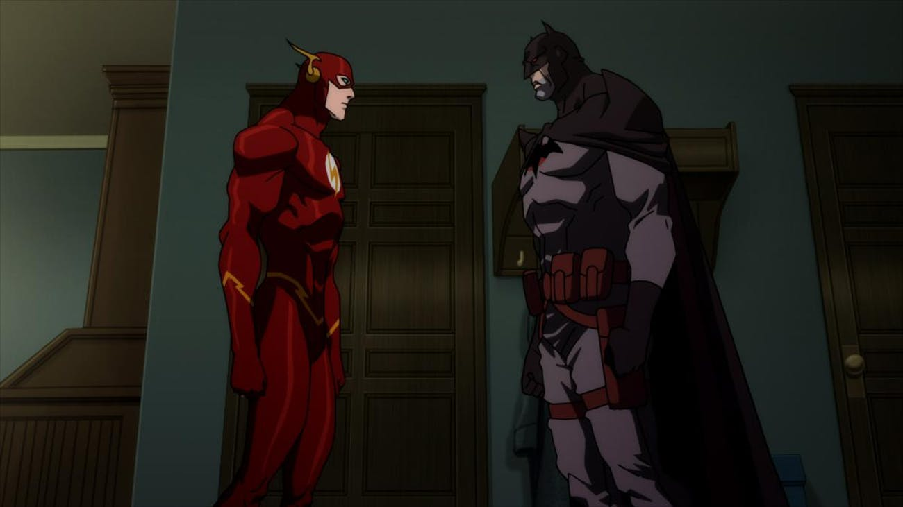 Barry's closest friend in Flashpoint is Thomas Wayne's Batman.