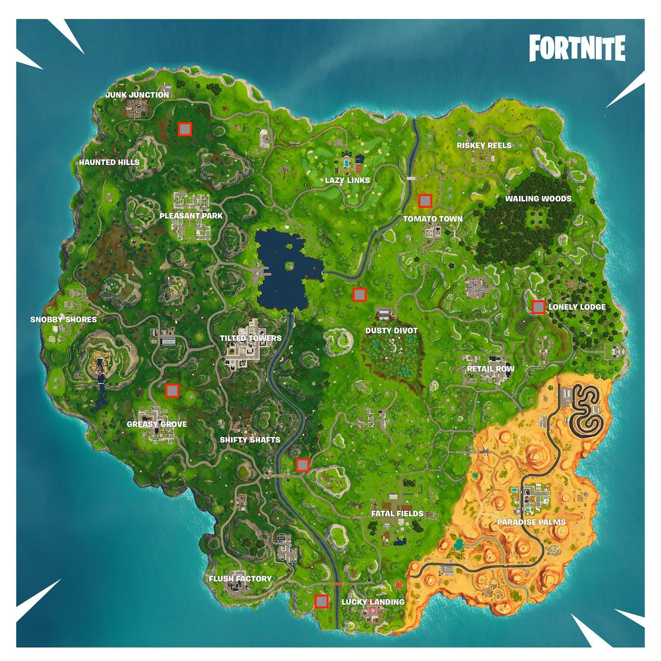 fortnite stone heads - stone head locations fortnite week 9