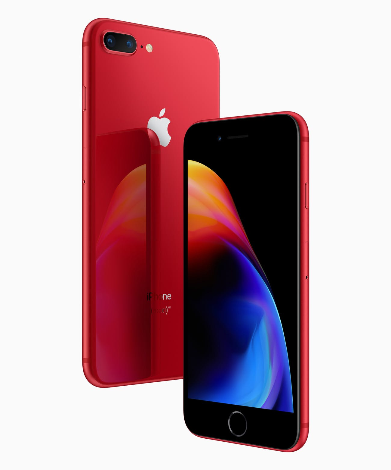 The red iPhone 8.