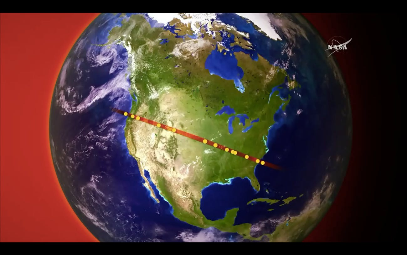 nasa satellites august 2017 eclipse