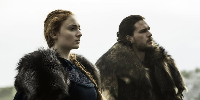 Sansa Stark and Jon Snow in 'Game of Thrones' Season 6.
