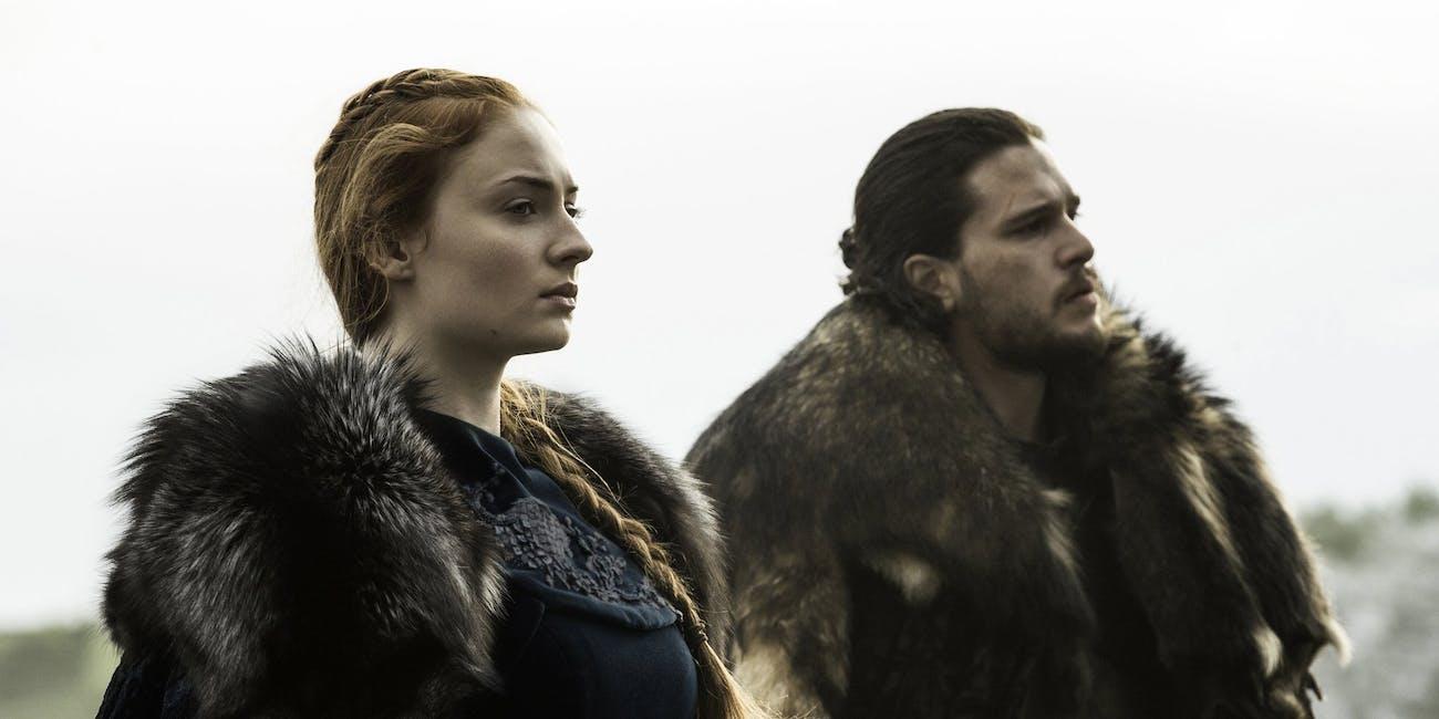 Sansa Stark and Jon Snow in 'Game of Thrones' Season 6.