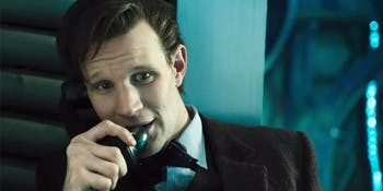 The 11th Doctor called the 13th for some silly fun.