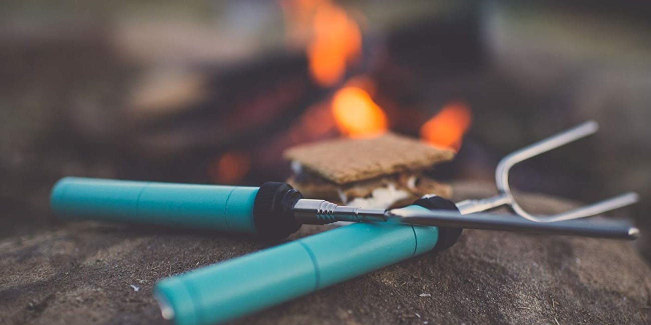 camping gear, marshmallow skewers