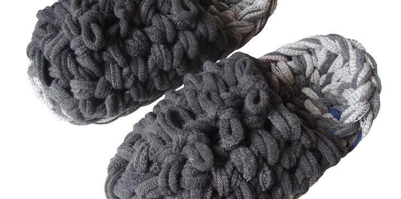 Knit upcycle slippers