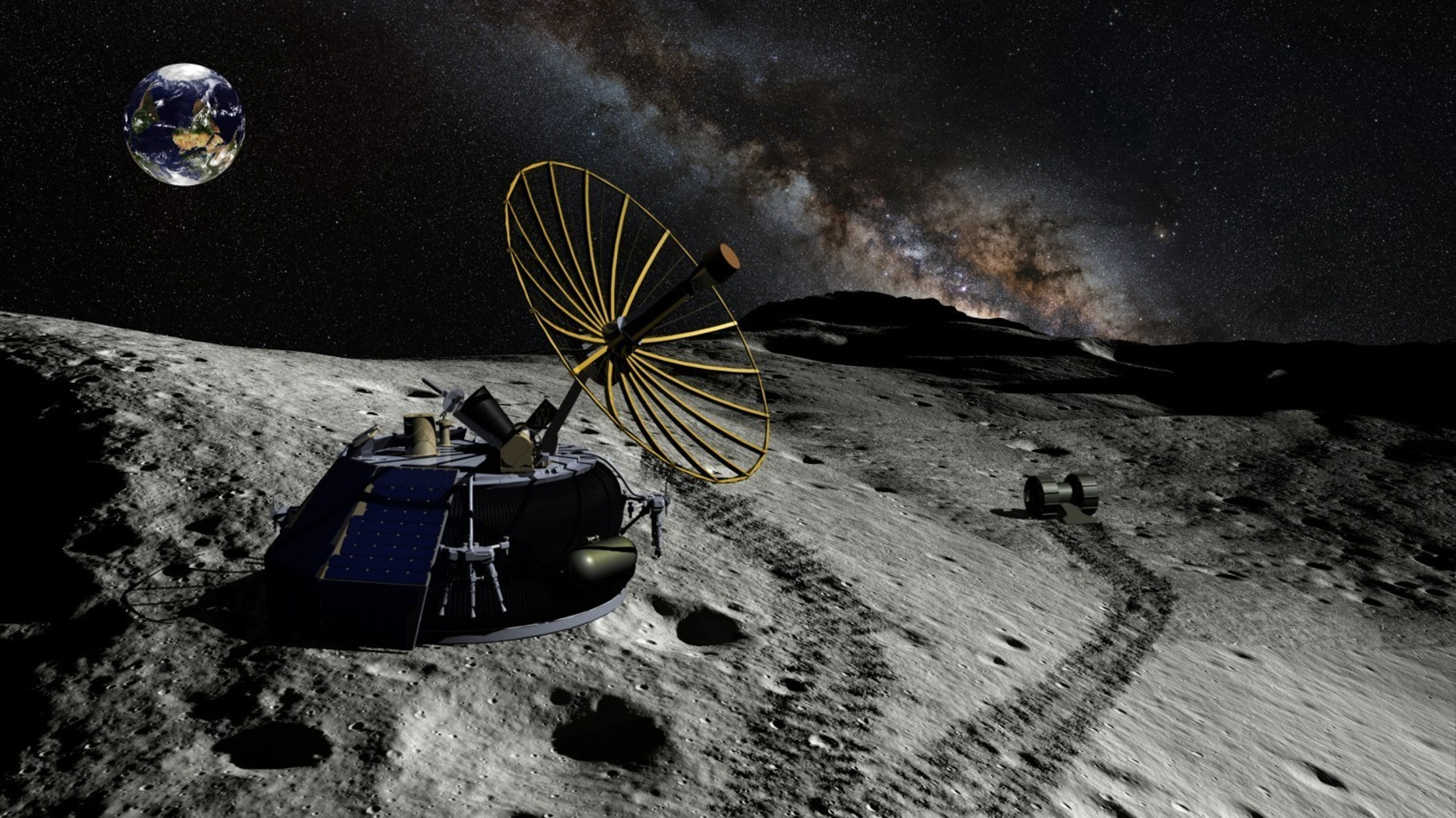 An artist's rendering of the Moon Express robotic lander.